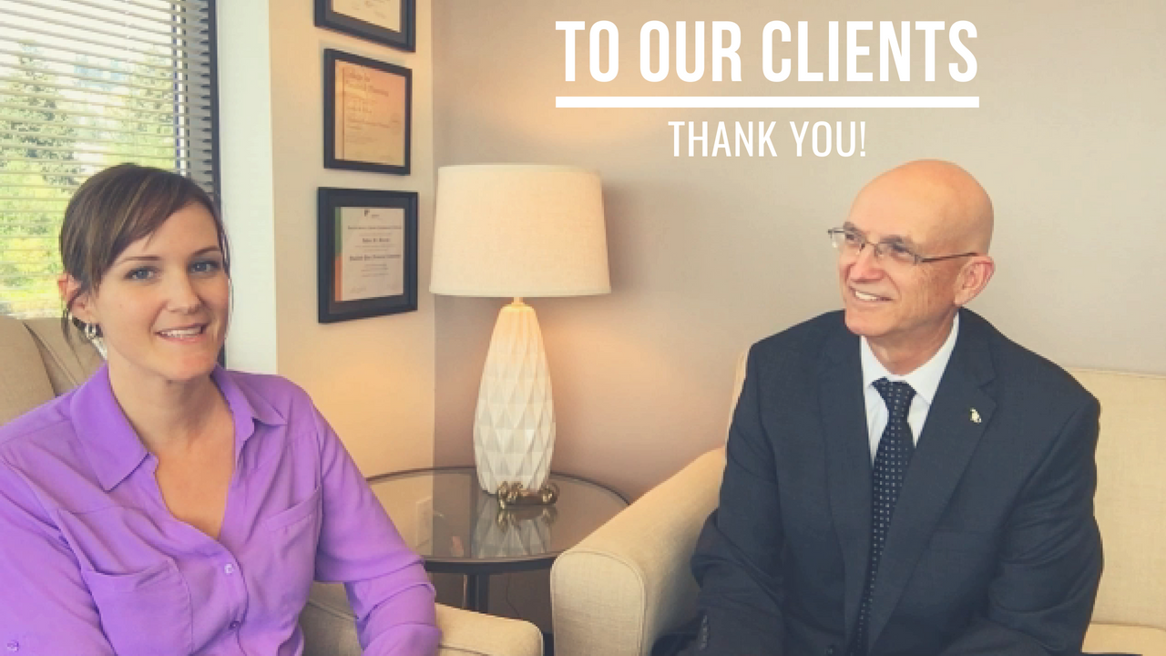 To Our Clients - Thank You