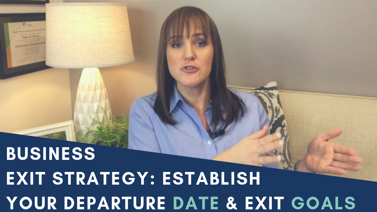 Ashley Micciche talking about business exit strategy and how to establish your departure date and exit goals