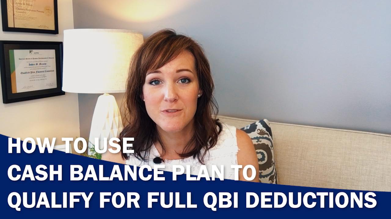 Cash Balance Plan to Qualify for QBI Deduction